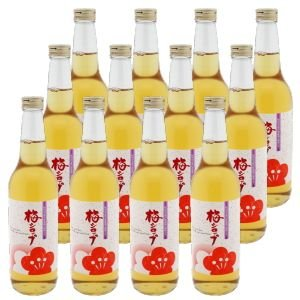 梅シロップ(700g×12本)家庭用 [梅果汁清涼飲料の梅ジュース]|enbai