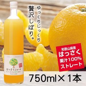 三友農園 果汁100%ストレート はっさくジュース/八朔ジュース(750ml×1本)無添加 ストレート 国産(和歌山県産)|enbai