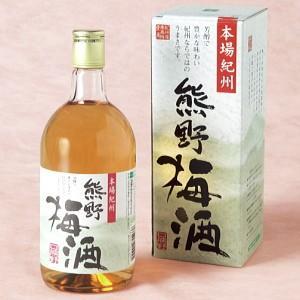 熊野梅酒 720ml 13度 [プラム食品 和歌山県 梅酒] 紀州南高梅使用 本場紀州の梅酒 enbai