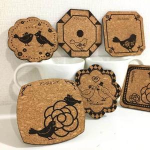 名入れグッズ 幸せを呼ぶコースター 小鳥デザイン 全6種 【ゆうパケット対応】 enchante-kobo