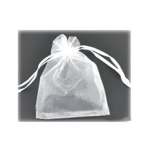 オーガンジー巾着袋 ホワイト 16×13cm(5枚入)【クロネコDM便対応】