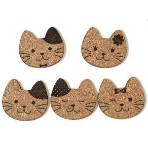 猫家族コースター 選べるデザイン5種類 【ゆうパケット対応】 enchante-kobo