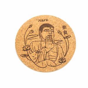 和の小物 丸コルクコースター 奈良の大仏 約82×4mm【ゆうパケット対応】|enchante