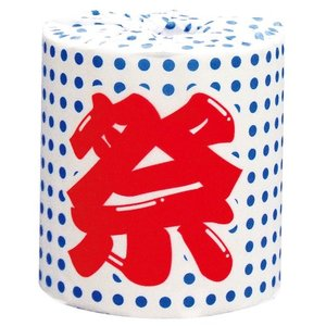 【ケース販売:50個】トイレットペーパー 祭りシリーズ 豆絞り 114mm×30mダブル【メーカー直送:代引き不可:沖縄離島不可:日時指定不可】|encho