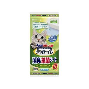 ユニチャーム 1週間消臭・抗菌デオトイレ 取り替え専用 消臭シート 10枚|encho