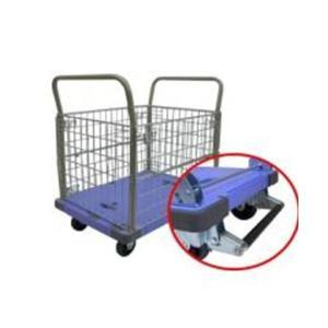 【送料無料】ナンシン 樹脂微音運搬車 サイレントマスター 金網付 N-DSK-306B【メーカー直送:代引不可:日時指定不可】|encho