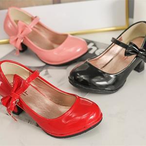フォーマルシューズ 子供 靴 女の子 17 18 19 20 21 22cm レッド 黒 ピンク 結...