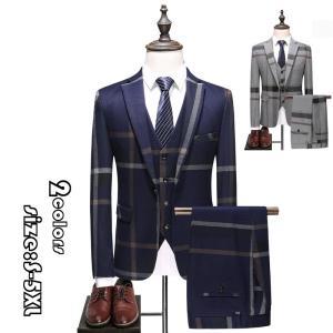 メンズスーツ 3ピーススーツ ビジネススーツ スーツスーツ 1つボタン メンズ スリムスーツ 男性用 紳士服 大きい セットアップ ファッション 高品質 結婚式|encore