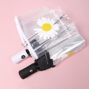折りたたみ傘 レディース メンズ 自動開閉 自動傘 雨傘 花柄、フラワー 透明傘 折り畳み 折りたた...