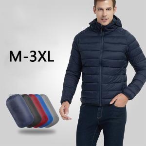 4色!2019新品  軽いダウンジャケット中綿メンズコートブルゾン 立ち襟/フード付き 厚手 アウター 防風 防水 防寒アウトドア 人気  ファッション ワイルド|encore
