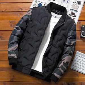 3色!2019新品  いダウンジャケット中綿メンズコートブルゾン  カモフラージュコート   厚手  暖かい綿のコート  アウター 防風  防寒アウトドア 人気|encore