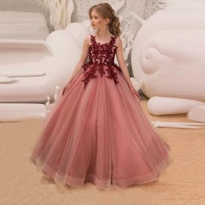 2色! 姫系 子供ドレス 結婚式ドレス チュールスカート ロングスカート ワンピース 高級感 入園式...
