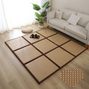 4色60cm*60cm1枚 籐マット置き畳 ユニット 畳 半畳 正方形  水拭き可 汚れにくい ペッ...