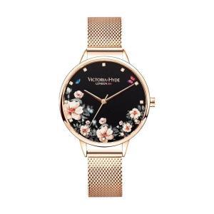 VICTORIA HYDE LONDON ヴィクトリアハイドロンドン 腕時計 レディス GREEN PARK グリーンパーク VH1004F ブラック文字盤 レディース 腕時計 endless