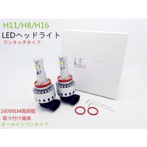 品 未使用 LED/H11・H8・H16フルキツト  オールインワン1体型 CREE-XHP70チッ...