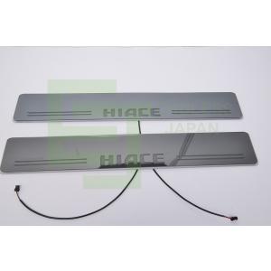 トヨタ HIACE (ハイエース)200系4型 5型 サイドステッププレート LED イルミネーショ...