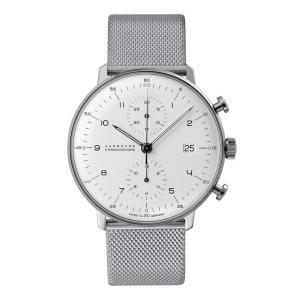 027/4003.44M(2年間保証)ユンハンス正規特約店のマックスビル・クロノスコープ(メンズ腕時計)JUNGHANS正規品|endogemz