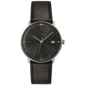 041/4465.00(2年間保証)ユンハンス正規特約店のマックスビル・クオーツ・カレンダー付メンズ腕時計JUNGHANS正規品|endogemz