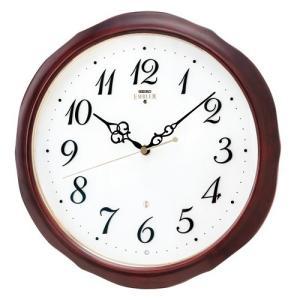 HS554B セイコーエンブレム電波掛け時計(木枠) 流れるようなスイープセコンド 暗くなると止まるおやすみ秒針 電池寿命5年|endogemz