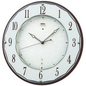 HS524B セイコーエンブレム電波掛け時計(木枠)音のしない流れるような秒針 スイープセコンド endogemz