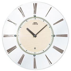 HS529A セイコーエンブレム薄型電波掛け時計 曲面ガラスのスケルトンφ34cm薄さ26mm endogemz