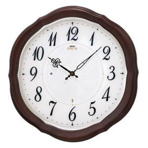 HS544B セイコーエンブレム電波掛け時計(マホガニー木枠)電池寿命5年|endogemz