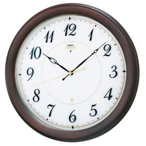 HS547B セイコーエンブレム電波掛け時計(木枠)流れるようなスイープセコンド 暗くなると止まるおやすみ秒針 endogemz
