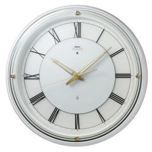 HS550W セイコーエンブレム電波掛け時計(木枠)光センサーにより周囲が暗くなると針と文字板が自動点灯|endogemz