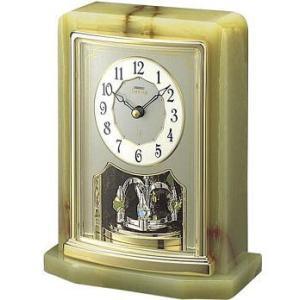 HW465G セイコーエンブレム 回転飾り付きオニキス置き時計|endogemz