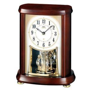 HW566B セイコーエンブレム電波置き時計 回転飾り付き|endogemz