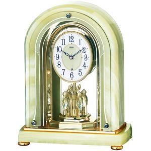 HW575M セイコーエンブレム電波置き時計 アーチ型のオニキスクロック