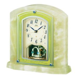 HW579M セイコーエンブレム電波置き時計 風格のオニキス・クロック|endogemz