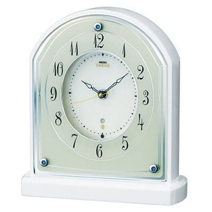 HW587W セイコーエンブレム電波置き時計|endogemz