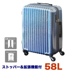 スーツケース 機内持ち込み Mサイズ 軽量 ストッパー TSA 4輪 フリクエンター リフレクト 1-310|endokaban