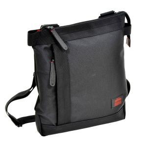ショルダーバッグ ビジネス メンズ 縦型 Sサイズ 薄マチ A4サイズ収納 休日 NEOPRO RED 2-021|endokaban
