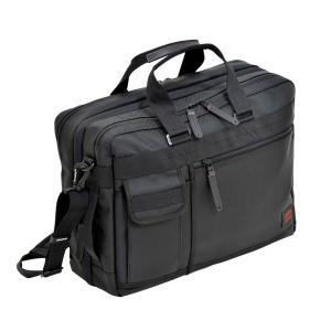 EXビジネス ショルダーバッグ 大容量 マチ幅拡張 キャリーループ カジュアルビジネス メンズ NEOPRO RED 2-033|endokaban