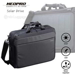 (2-860)NEOPRO Solar Drive 2wayブリーフ ビジネスバッグ ネオプロ 太陽光 発電 ソーラーパネル|endokaban