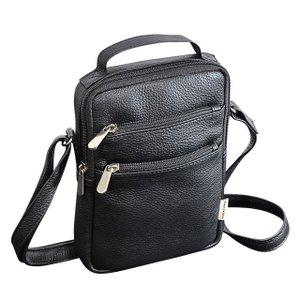 ショルダー  縦型レザーバッグ Lサイズ メンズ インドレザー 本革 牛革 ABSOLUTE ZERO Men's Leather 4-370 endokaban