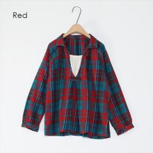 全3色 チェック柄ネルTシャツ ener 03