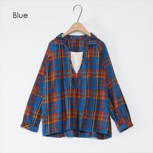 全3色 チェック柄ネルTシャツ ener 04