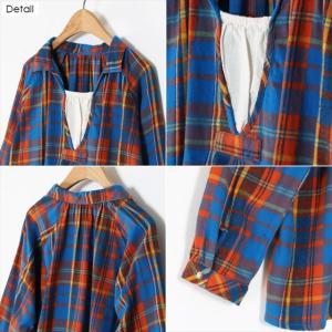 全3色 チェック柄ネルTシャツ ener 06