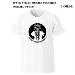 VFA-27 Strike Fighter Squadron インシグニア Tシャツ|ener