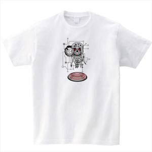 ロボットスカルプリントTシャツ おもしろ ドクロ オリジナル ユニセックス メンズ レディース ener 02