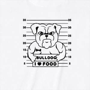 [S-XL] ブルドックマグショットプリントTシャツ おもしろ ロゴ 犬 動物|ener|04