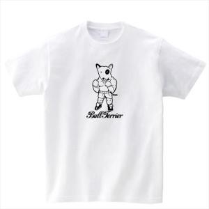[S-XL]ブルテリアボクサープリントTシャツ(A) 動物 おもしろ キャラクター|ener|02