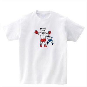 [S-XL]勝利ポーズブルテリアボクサープリントTシャツ 動物 おもしろ キャラクター|ener|02