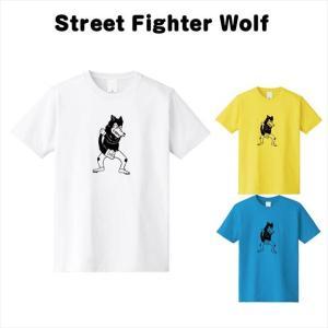 [全3色] ストリートファイターウルフプリントTシャツ|ener