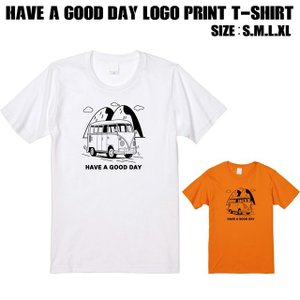 全2色 Have a good dayロゴプリントTシャツ|ener