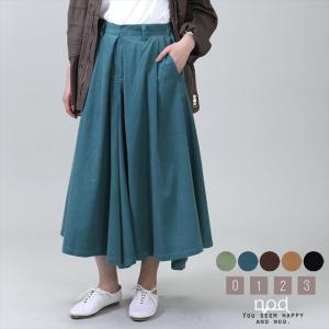 [全5色] スカート風キュロットパンツ ener