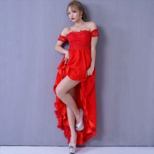 全5色 レーステールプリンセスロングドレス ワンピース セクシー キャバドレス お呼ばれ パーティー 衣装 ener 05